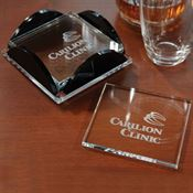 Square Glass Coaster Set - Personalization Available