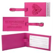 Pink Deluxe Luggage Tag - Personalization Available