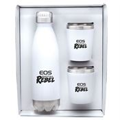 Stainless Steel Curv Bottle & Tumblers Gift Set - Personalization Available