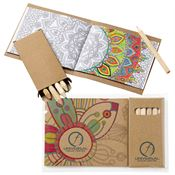 Coloring Book & 6-Color Pencil Set - Personalization Available