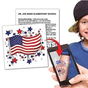 US Flag Temporary Tattoo - Personalization Available