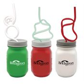 Krazy Straw® Holiday Mason Jars 16-oz. - Personalization Available