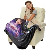 Sherpa Lined Sublimated Throw - Personalization Available