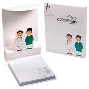 Doctor & Nurse 3-D Sticky Pad - Personalization Available