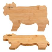 Bamboo Cow Cutting Board - Personalization Available
