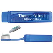 Travel Toothbrush With Toothpaste - Personalization Available