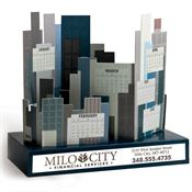 Build-A-City Die-Cut Desk Calendar - Personalization Available