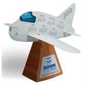 3D Airplane Die-Cut Desk Calendar - Personalization Available