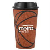 Single Wall Grande Plastic Tumbler With Basketball Sleeve 16-oz. - Personalization Available