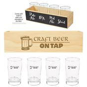 Chalkboard Flight Crate Kit With Glasses - Personalization Available