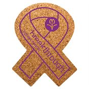 Awareness Ribbon Cork Coaster - Personalization Available