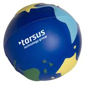 Squeezies® Multi-Color Earth Stress Reliever - Personalization Available