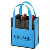 Toscana Six Bottle Non-Woven Wine Tote - Personalization Available
