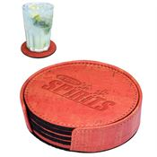 Casablanca® Cork Round Coaster Set - Personalization Available
