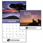 Sunrise Sunset 2018 Calendar - Personalization Available