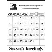 Black And White Contractor Memo 2019 Calendar (13-Sheet) - Personalization Available