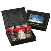 Picture Frame Keepsake Box With Pretzel & Nut Mix - Personalization Available