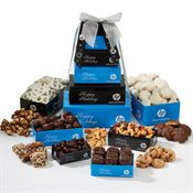 Six Tier Custom Logo Treat Tower Premium Assortment - Personalization Available