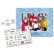 Holiday Message Magnet With Picture Frame - Personalization Available