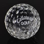 Crystal Ball Golf Paperweight - Personalization Available