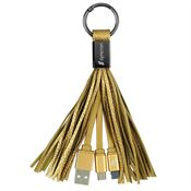 Tassel 2-In-1 Cable Keyring - Personalization Available