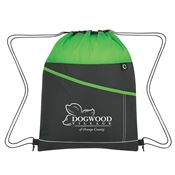 Two-Tone Sports Drawstring - Personalization Available