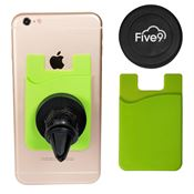 Magnetic Auto Phone Holder with Phone Pocket - Personalization Available