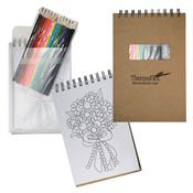 Notebook With Colored Pencils - Personalization Available