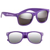 Silver Mirrored Malibu Sunglasses - Personalization Available