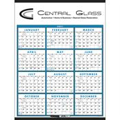 Span-A-Year Laminated Calendar with Marker - Personalization Available