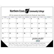 Blue & Black 2019 Desk Pad Calendar With Vinyl Corners - Personalization Available