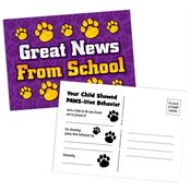 Great News From School Postcard
