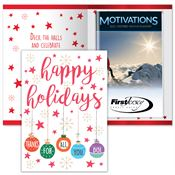 Happy Holidays Thanks For All You Do Greeting Card With 2019 Motivations Planner