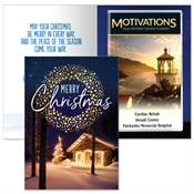 Merry Christmas Greeting Card With 2020 Motivations Planner - Personalization Available