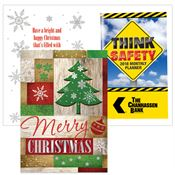 Merry Christmas Greeting Card With 2018 Think Safety Planner