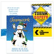 Teamwork Greeting Card With 2019 Think Safety Planner Gift Set