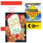 Happy Holidays Thanks For All You Do Greeting Card With 2019 Think Safety Planner
