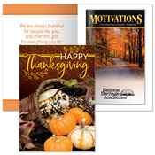 Happy Thanksgiving Greeting Card with 2019 Motivations Planner