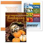 Happy Thanksgiving Greeting Card with 2019 Caring Is Always In Season Planner