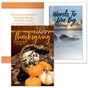 Happy Thanksgiving Greeting Card with 2019 Words To Live By Planner - Personalized