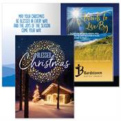 Blessed Christmas Greeting Card With 2020 Words To Live By Mountain Sunrise Planner (Psalm 27:1) Gift Set - Personalization Available