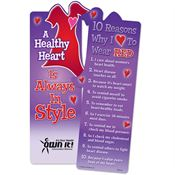 A Healthy Heart Is Always In Style Die-Cut Red Dress Bookmark - Personalization Available