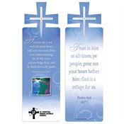 Proverbs 3:5-6 and Psalm 62:8 Deluxe Die-Cut Bookmark - Personalization Available