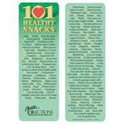 101 Healthy Snacks Bookmark - Personalization Available
