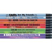 Heat-Sensitive Pencil Assortment Pack With EMS Safety Tips