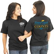 Every Guest Counts Positive 2-Sided T-Shirt - Personalized