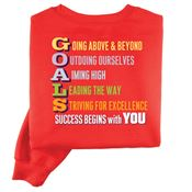 GOALS/ Success Begins With You Positive 2-Sided Sweatshirt - Personalized