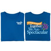 Individually We Are Special, Together We Are Spectacular 2-Sided T-Shirt