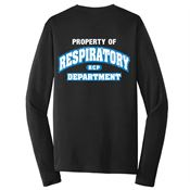 Property Of Respiratory Department 2-Sided Long-Sleeve T-Shirt - Personalized