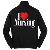 I (Heart) Nursing 2-Sided Full-Zip Sweatshirt Jacket - Personalized